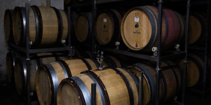Bubbels Meester op bezoek in de wijnkelder van Pierre Arnold