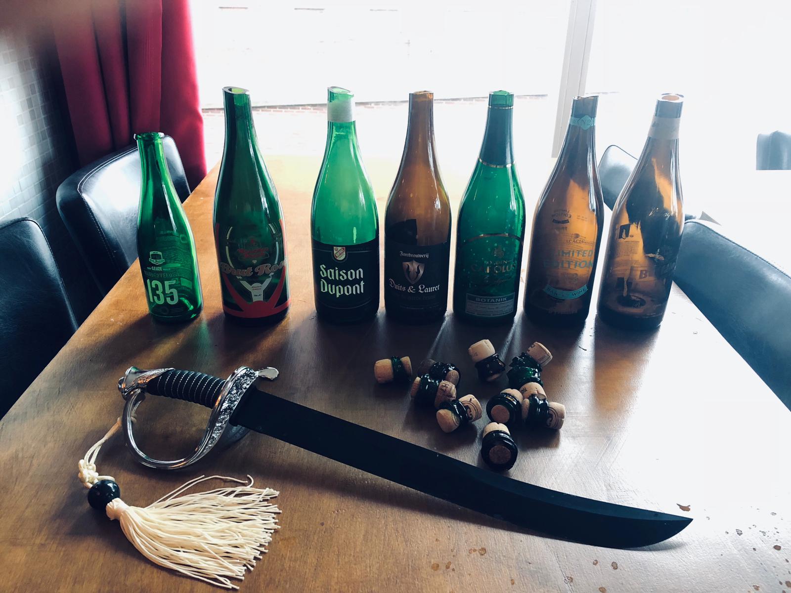 Workshop bier sabreren en bierproeverij