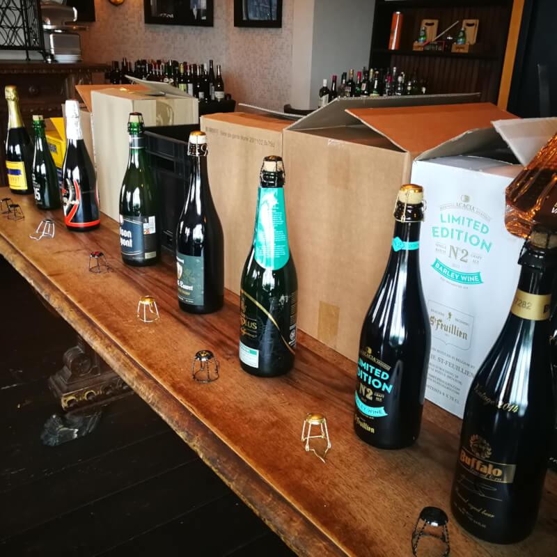 Workshop bier sabreren en bierproeverij met Bubbels Meester