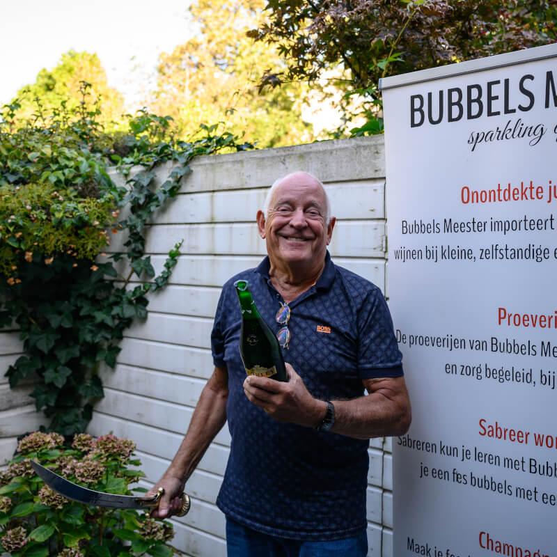 Workshop Sabreren en Bubbel Proeverij met Bubbels Meester