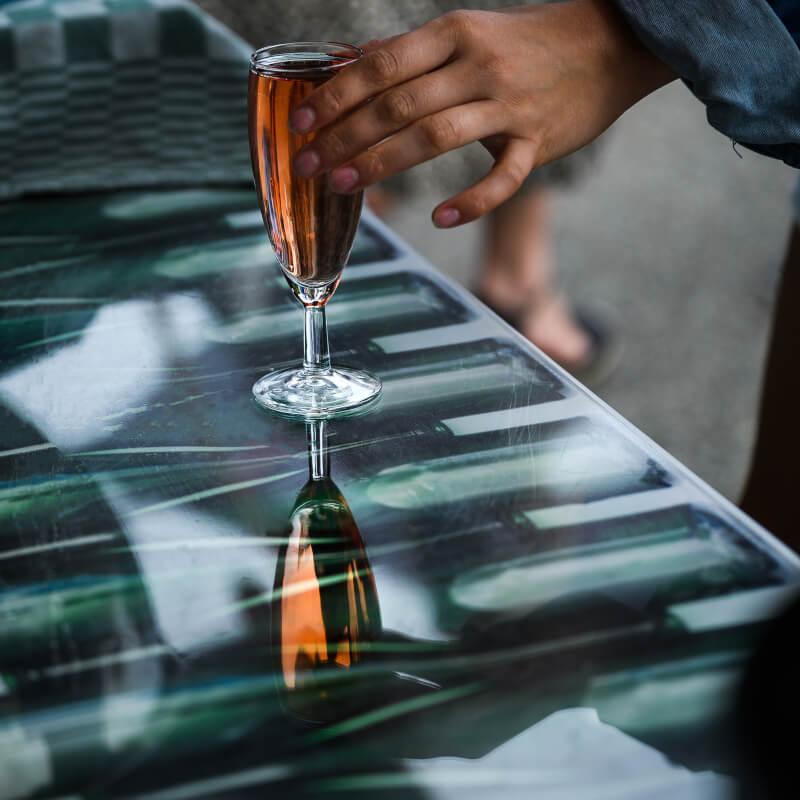 Proef Reestlandhoeve wijnen tijdens de Nederlandse wijnproeverij