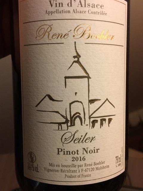 Boehler Pinot Noir Seiler 2018 uit Molsheim in de Elzas