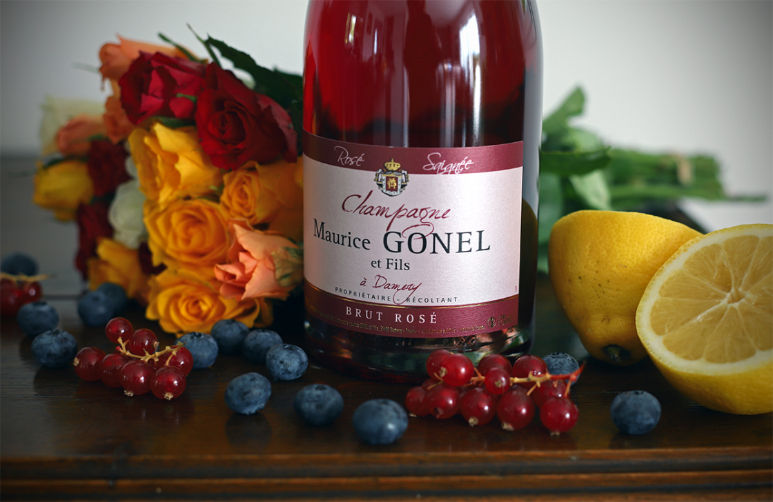 Maurice Gonel rosé de saignée is een millésime champagne van 100% Pinot Noir 2017
