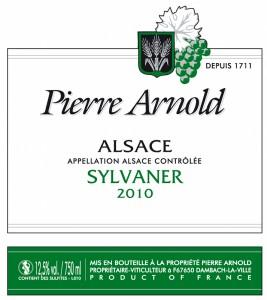 Pierre Arnold Sylvaner 2019 uit Dambach in de Elzas