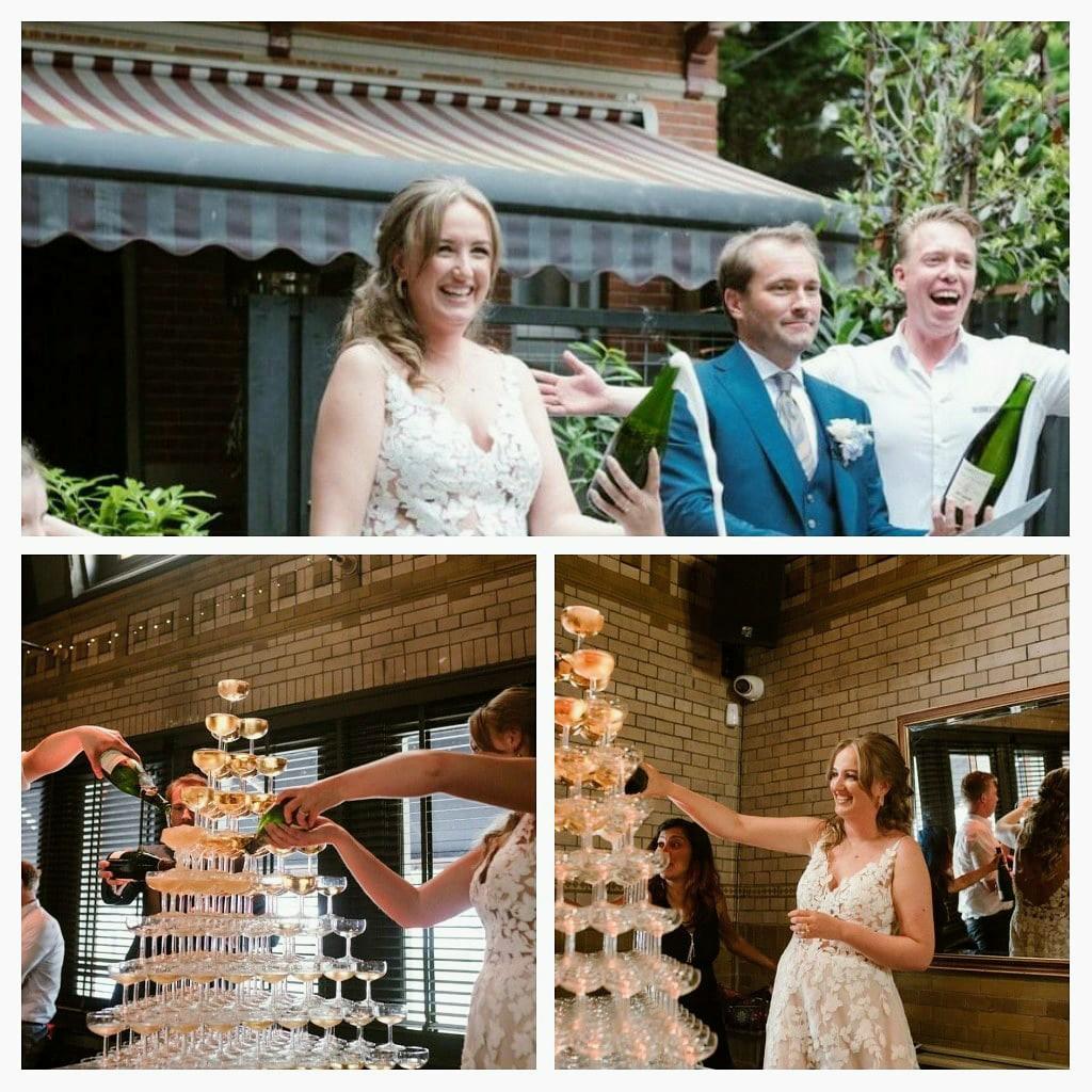 Sabreren en een champagnetoren op je huwelijk; wat een feest!